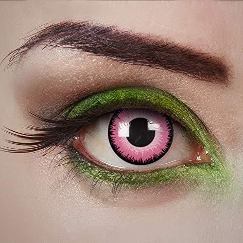 aricona Kontaktlinsen - Rosa Kontaktlinsen Farblinsen ohne Stärke - Farbige Kontaktlinsen für Karneval, Fasching, Cosplay, 2 Stück