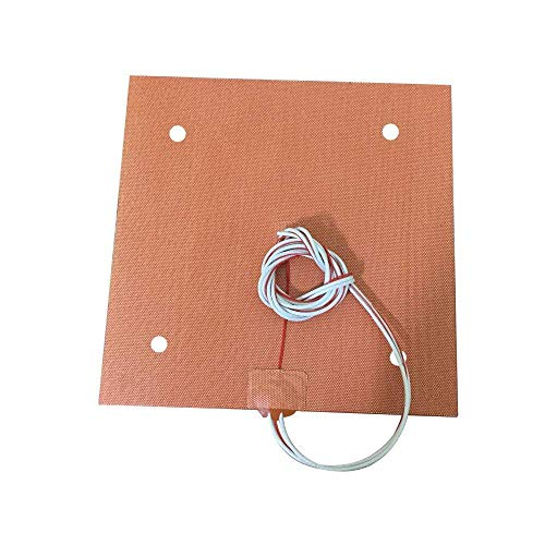 CR10 Silicone Heater Pad 310x310mm for CR-10 3D Printer Bed w/Screw Holes, Adhesive Backing + Sensor (220V)
