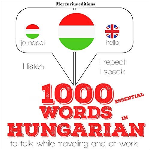 1000 essential words in Hungarian audiobook cover art