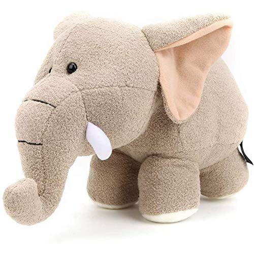 SONG Juguete de Peluche para Niños, Juguete de Peluche de Material de Felpa Corto con Forma de Elefante, Cómodo para Bebé (Elefante Beige),30 * 18CM