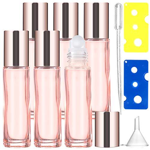 Botellas Roll On de Vidrio para Aceites Esenciales Rosa