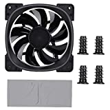 Soapow FR801 Colorful Lighting Ring RGB PC Case Chassis Radiator Water Cooling Fan