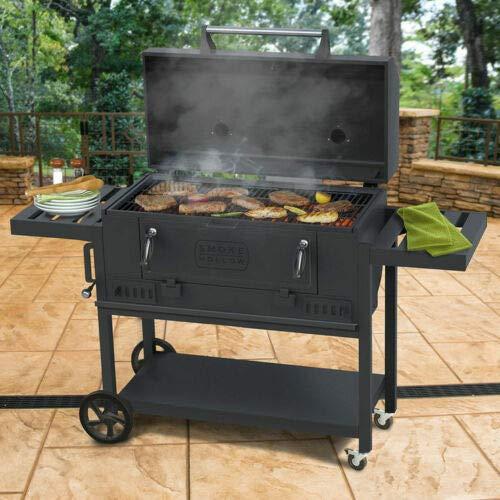 "Smoke Hollow チャコールグリル Garden Outdoor Painted Steel BBQ 36"" 91.4cm Premium Charcoal Grill"