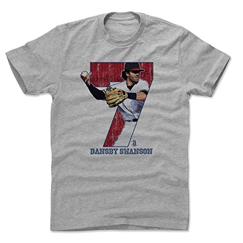 500 LEVEL Dansby Swanson Shirt (Cotton, XX-Large, Heather Gray) - Atlanta Men's Apparel - Dansby Swanson Game R