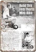 トムサムミニバイクブリキサイン壁の装飾金属ポスターレトロプラーク警告サインオフィスカフェクラブバーの工芸品