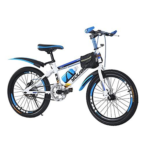 18/20/22 Pulgadas Bici Infantiles Bicicletas De MontañA para NiñOs Frenos De Disco Sensibles TransmisióN Sensible Altura del Asiento Ajustable Adecuado para NiñOs De 7 A 15 AñOs