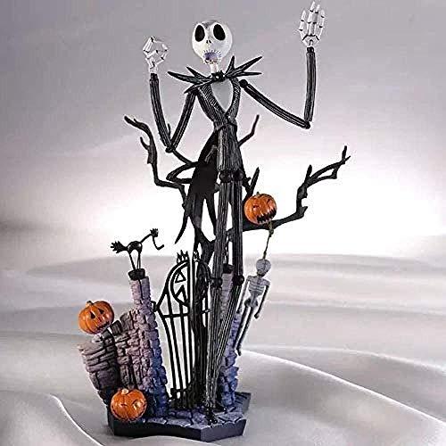LLJJ Skellington Animado Figura Modelo Estatua Hecha a Mano Decoración de Colección Niños s Juguetes 20CM Regalo