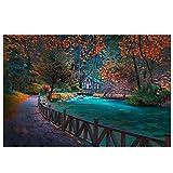 Lomoko Herbstlandschaft Bosnien Park Sarajevo Wandkunst
