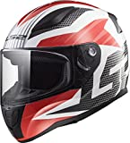 LS2 353-1114 Full Face Motorcycle Helmet (White, L)