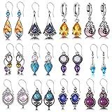 12 Pairs Drop Dangle Earrings for Women Boho Jewelry Waterdrop Earrings Set for Girls