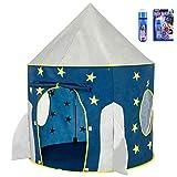 Georgie Porgy Portatile Pieghevole Bambini Tenda Dell'interno del Castello All'aperto Bambini Giardino Giocattolo Razzo (Luminescente) Gratuito per la Giocattolo proiettore Spaziale