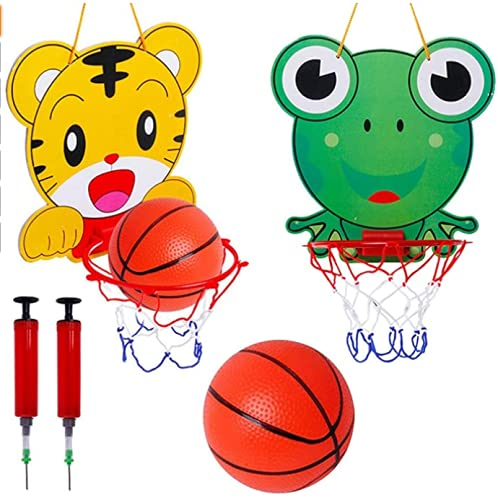 Canasta Baloncesto Infantil Miotlsy Dibujos Animados Niños de Interior en la Sala de Oficina Mini Tablero de Baloncesto Colgante Junta Niños Deportes de Ocio con Balón y Bomba Apto
