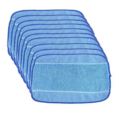 iAmoy kompatibel mit Mikrofasertuch Reinigungstuch Ersatz für iRobot Braava 390t 380 380t 320 Mint 4200 4205 5200 5200C Wischroboter