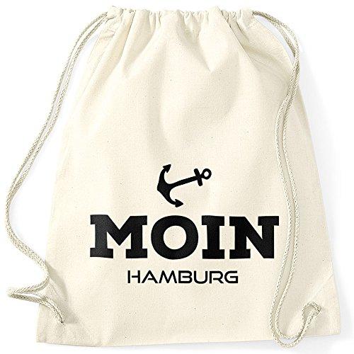 MoonWorks Turnbeutel Moin Hamburg Anker Natur Unisize