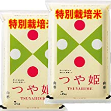 新米 令和2年産 山形産 特別栽培米 つや姫 10kg (5kg×2袋) JAおきたま つやひめ (白米精米(精米後約4.5kg×2))