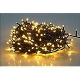 salcar 25m 360球 ストレット イルミネーションLEDライト 防水 ワイヤライト 屋内屋外使用可能 クリスマス パーティー ハロウィン 常時点灯