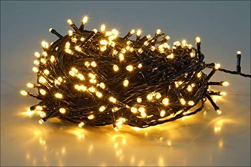 Salcar 26m 360球 ストレット イルミネーションLEDライト 防水 ワイヤライト 屋内屋外使用可能 クリスマス パーティー ハロウィン 常時点灯【1年保証】