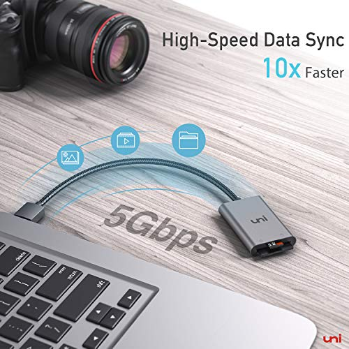 uni USB 3.0 Kartenleser 2in1 SD Kartenlesegeräte Card Reader für SD/Micro SD/TF/SDHC/SDXC/MMC, kompatibel mit Windows/Mac/OS usw.