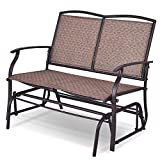 Happygrill Patio Glider Chair Bench for Outdoor Backyard, Swing Loveseat Patio Swing Rocker Lounge Glider Chair