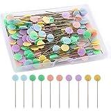 LUTER 200 Piezas Alfileres Planos De Cabeza De Flor Con Una Caja De Almacenamiento Colores Surtidos Alfileres Decorativos Para Modistas Proyectos De Costura