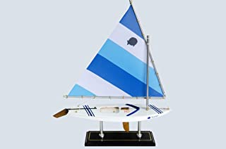wooden sunfish sailboat