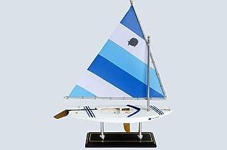 LK Wooden Blue Lagoon Sunfish Model Sailboat Decoration 16