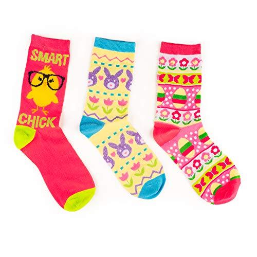 Product Image 3: Easter Crew Socks, Chicks/Bunny Fair Isle/Easter Fair Isle Socks (3 Pack)