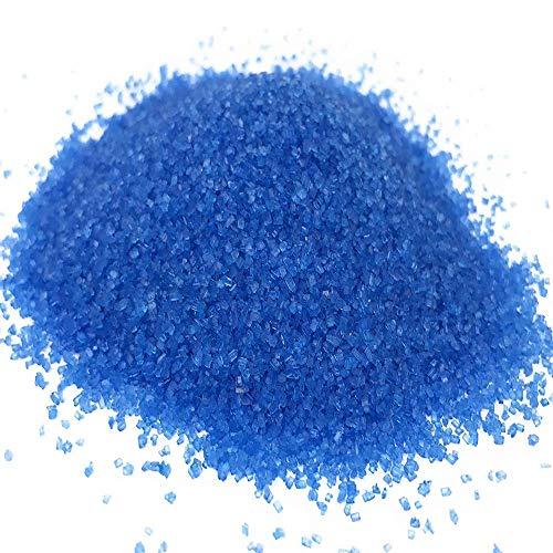 Ultimate Baker Blue Decorating Sugar - Kosher Certified Natural Large Crystal Decorating Sugar (8oz Bag Blue Sugar)