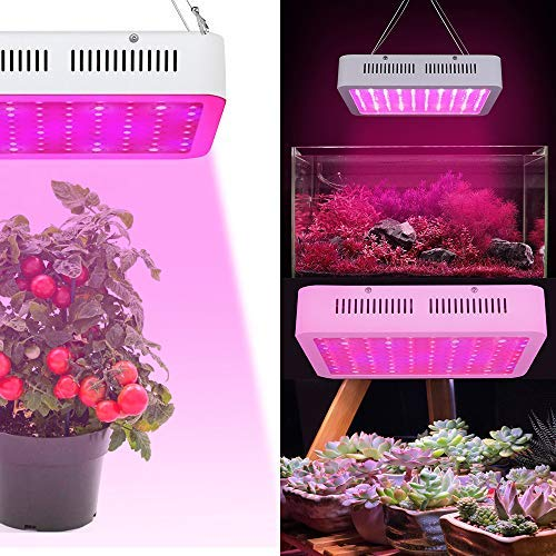 Aufun 300W 100LEDs Pflanzenlampe Pflanzenlicht - Vollspektrum Led Grow Light Panel mit Rot Blau White IR UV - für Gewächshaus Hydroponik Grow Box Veg Wachstum (300W)