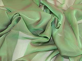 Cationic Chiffon Dress Fabric Emerald Green - per metre