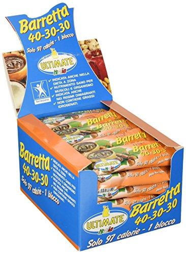 Ultimate Italia – Barrette 40 30 30 Nocciolinella - Indicata per la dieta a zona – scatola da 30 pz