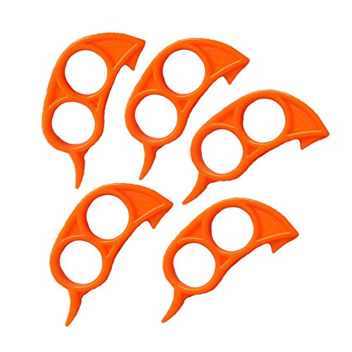 5Pcs Fruit Opener Peeler Slicer Cutter Démaquillant en plastique pour fruits Citron Citrus Orange - Orange