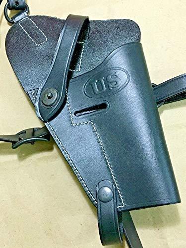 N.Ent US WWII M7 M-7 1911 .45 Cal Pistol Leather Shoulder Holster Army U.S. COLT 45 M7, M-7 Holster Black