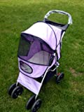 Splendid Pets Purple 4 Wheel Easy Fold Dog Stroller/Foldable Pet Buggy/Pushchair for Dogs
