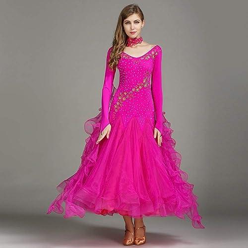 Jupe de danse Costumes de Moderne Concours National de Costumes Robes Modernes (Couleur   Se Leva, Taille   L)