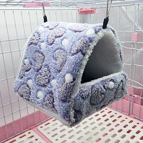Extraíble Columpio Carpa Mascotas pequeñas algodón Caliente Nido Juguete for el Color hámster Erizo Ardilla café 14 * 12, Color: Café Color-14 * 12 JXNB (Color : Purple-14 * 12)