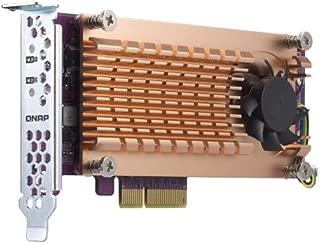 Qnap 双 M.2 22110/2280 SATA SSD 扩展卡(PCIe Gen2 X 2),半高支架预安装,低调平和全高捆绑 PCIe Gen3x4, M.2??PCIe?SSD X 2,?PCIe Gen3 x8 host
