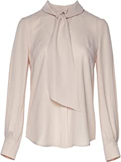 153277177fa060 ROEYSHOUSE Women Blouse Chiffon Bow Tie Neck Shirts Ladies Work Tees Long  Sleeves Button-Down