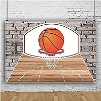 lovedomi 9x6ft スポーツテーマ漫画バスケットボールコート男の子お誕生日おめでとうパーティー写真背景写真スタジオブース家族休暇誕生日パーティースタジオ小道具写真ビニール素材