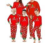 Pijama de Navidad, familia, padre, madre, niños, pijama, pijama con impresión de árbol de Navidad + pantalones de pijama Family Xmas Sleepwear Outfits Para mujer. XL