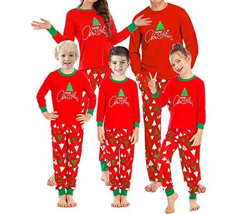 Weihnachten Nachtwäsche Familien Vater Mutter Kinder Schlafanzug Weihnachtsbaum Druck Pyjamas + Pyjamashosen Family Xmas Sleepwear Outfits (Herren, M)