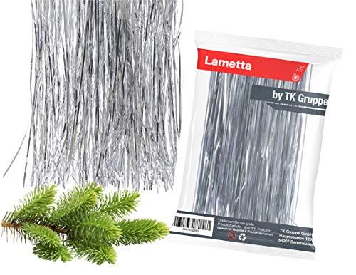 TK Gruppe Timo Klingler Silber Lametta - Stanniol Metal Technology - täuschend echt - als Deko Dekoration zu Weihnachten (Silber)