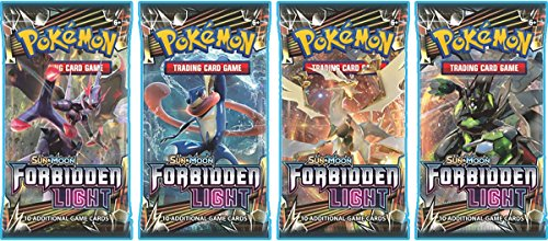 Pokémon Forbidden Light Booster Pack x4 Trading Card Game Sun & Moon