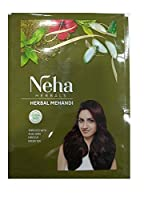 Neha 100% Herbal Mehandi, Natural Henna Hair Color,Enriched with 10 Natural Herbs Like Green Tea,Aloe Vera,habiscus (55gm) (Ship from India)