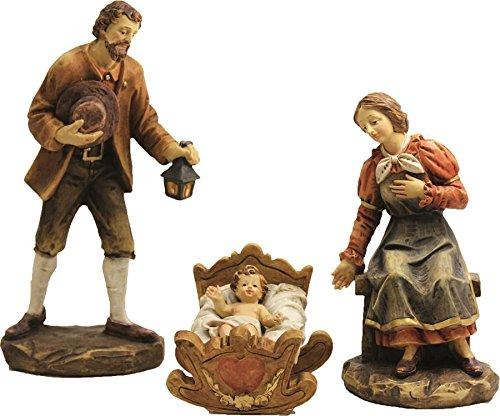 Krippenfigur, Heilige Familie mit Jesuskind 3-teilig, Höhe ca. 20cm