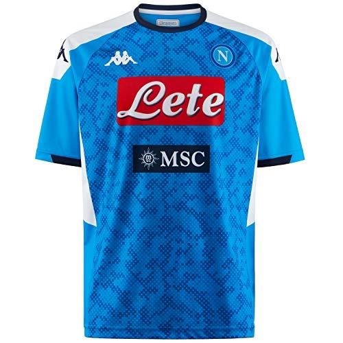Producto para aficionados del SSC Napoli temporada 19/20 Materialresistente y durable Logotipo de Omini bordado en el pecho Adecuada para coleccionar o regalar Logotipo de SSC Napoli y patrocinadores imprimados en el pecho