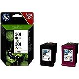 2X Tintas HP 301: 1x CH561EE + 1x CH562EE HP 301 (N9J72AE)