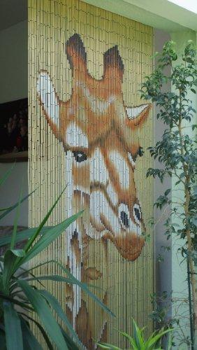 Unbekannt Bambustürvorhang Bambusvorhang Türvorhang Giraffe ca. 90x200cm
