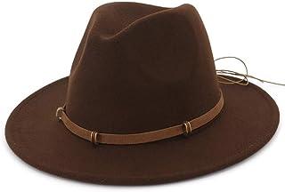 SHENTIANWEI Autumn Winter Sun Hat Women Men Fedora Hat Classical Wide Brim Felt Floppy Cloche Cap Chapeau Imitation Wool Cap