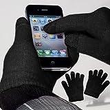 yayago Touchscreen Handschuhe Schwarz Universalgröße (ca. M – L) für Alcatel A5 LED (5085D)